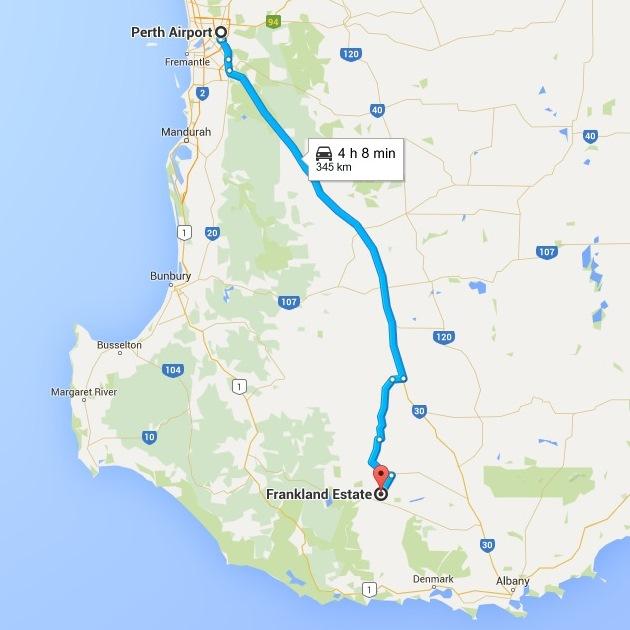 Google map Frankland River