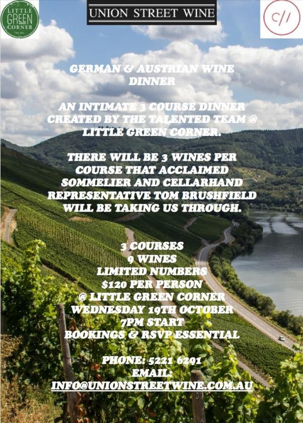 union-street-wine-german-austrian-wine-dinner